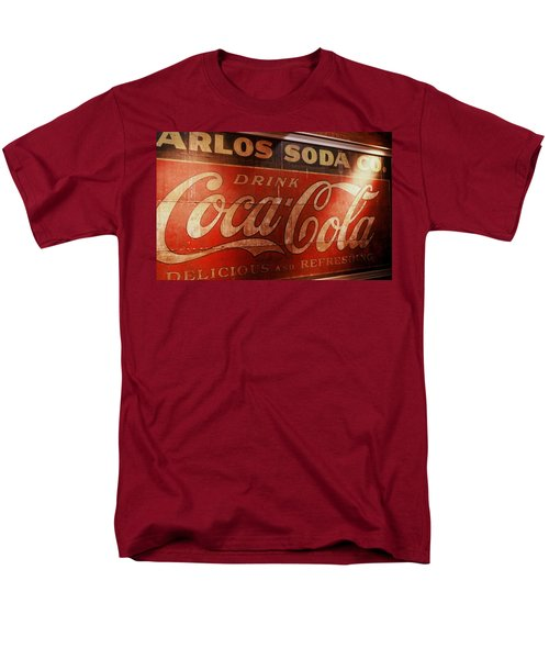 Men's T-Shirt  (Regular Fit) featuring the photograph Coca Cola Sign by Rodney Lee Williams