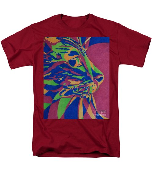 Men's T-Shirt  (Regular Fit) featuring the painting Color Cat I by Pamela Clements