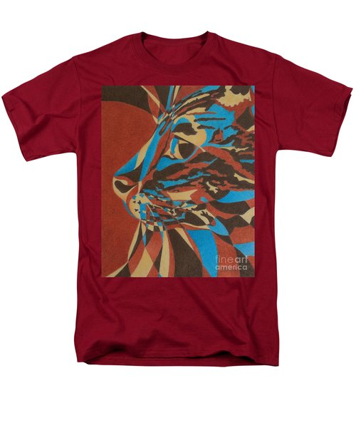 Color Cat II Men's T-Shirt  (Regular Fit) by Pamela Clements