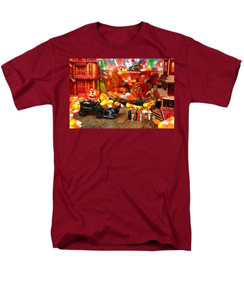 Count And Countess Dracula Inadvertently Took Their Daughters Trick Or Treating At The Van Helsings Men's T-Shirt  (Regular Fit) by Lon Casler Bixby
