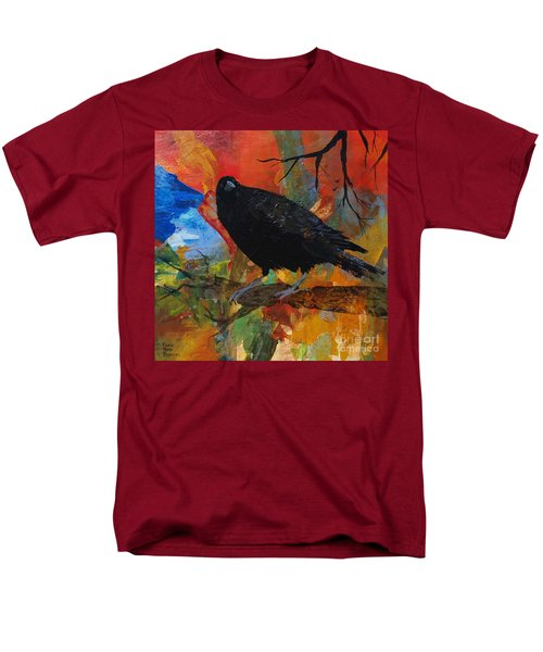 Crow On A Branch Men's T-Shirt  (Regular Fit) by Robin Maria Pedrero