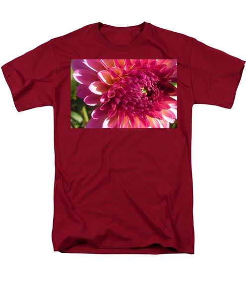 Men's T-Shirt  (Regular Fit) featuring the photograph Dahlia Pink 1 by Susan Garren