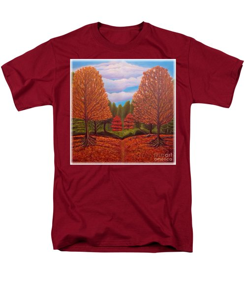 Dance Of Autumn Gold With Blue Skies Revised Men's T-Shirt  (Regular Fit) by Kimberlee Baxter