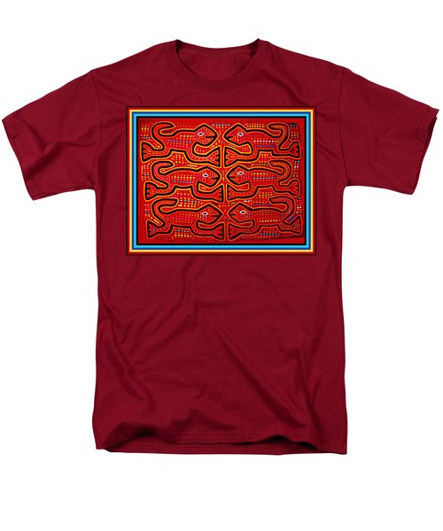 Men's T-Shirt  (Regular Fit) featuring the digital art Dancing Geckos by Vagabond Folk Art - Virginia Vivier