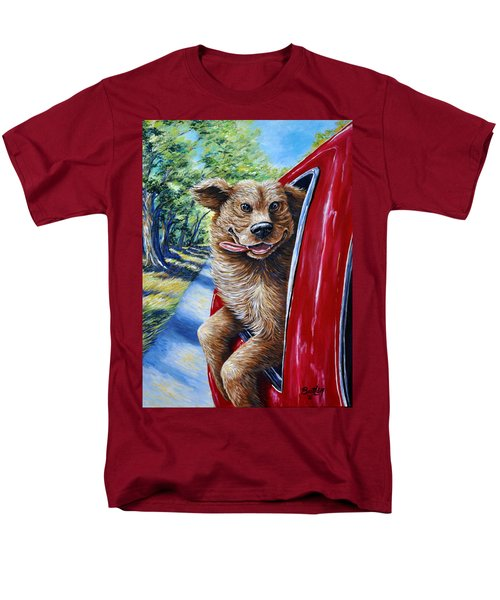 Dog...gone Happy Men's T-Shirt  (Regular Fit) by Gail Butler