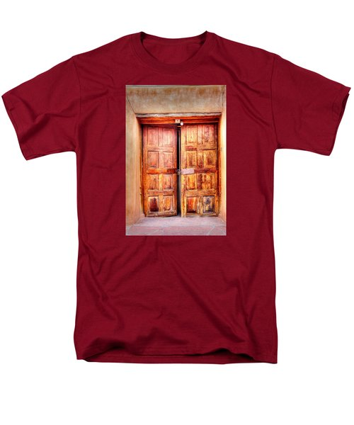 Men's T-Shirt  (Regular Fit) featuring the photograph Doors To The Inner Santuario De Chimayo by Lanita Williams