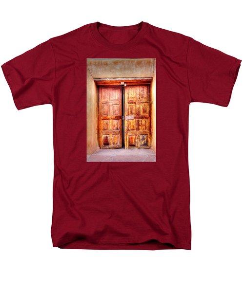 Doors To The Inner Santuario De Chimayo Men's T-Shirt  (Regular Fit) by Lanita Williams