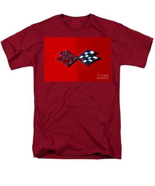 Early C3 Corvette Emblem Red Men's T-Shirt  (Regular Fit) by Dennis Hedberg