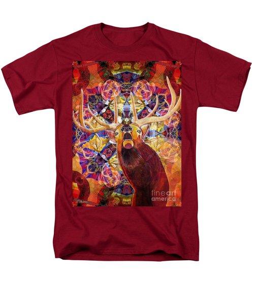 Men's T-Shirt  (Regular Fit) featuring the painting Elk Spirits In The Garden by Joseph J Stevens