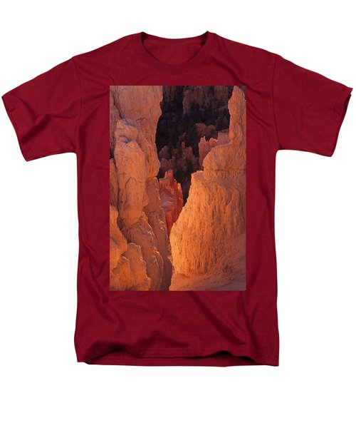 Men's T-Shirt  (Regular Fit) featuring the photograph First Light On Hoodoos by Susan Rovira