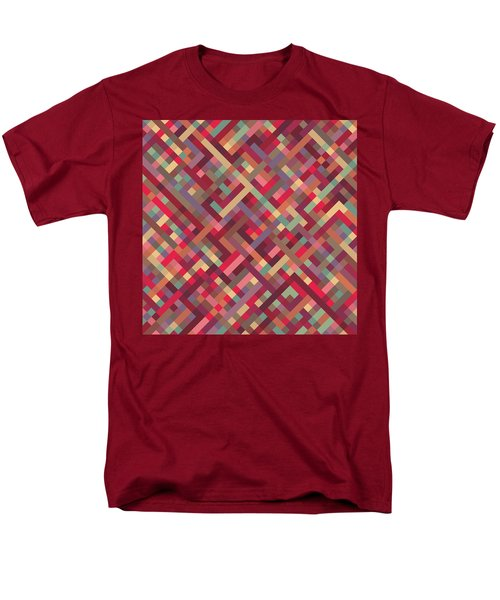 Geometric Lines Men's T-Shirt  (Regular Fit) by Mike Taylor