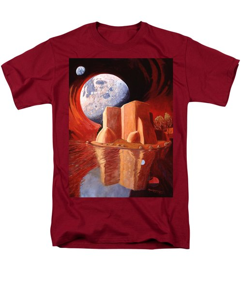 Men's T-Shirt  (Regular Fit) featuring the painting God Is In The Moon by Art James West