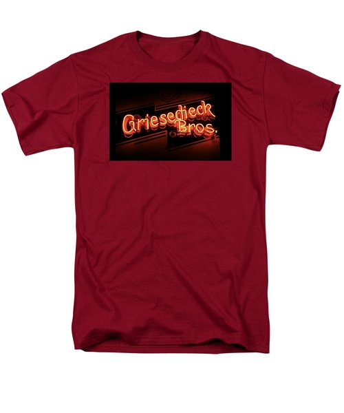Men's T-Shirt  (Regular Fit) featuring the photograph Griesedieck Brothers Beer Neon Sign by Jane Eleanor Nicholas