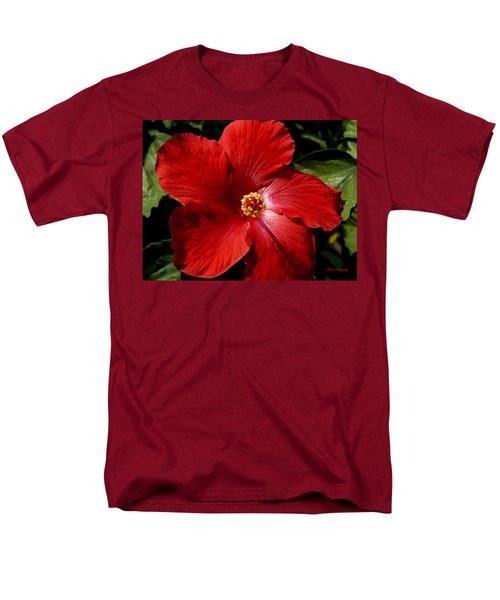 Hibiscus Landscape Men's T-Shirt  (Regular Fit) by Jeanette C Landstrom