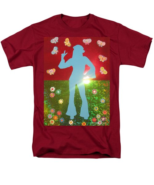 Men's T-Shirt  (Regular Fit) featuring the mixed media Hippie Girl by Jeepee Aero