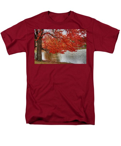 Holding Our Bright Red Joy Men's T-Shirt  (Regular Fit) by Jeff Folger