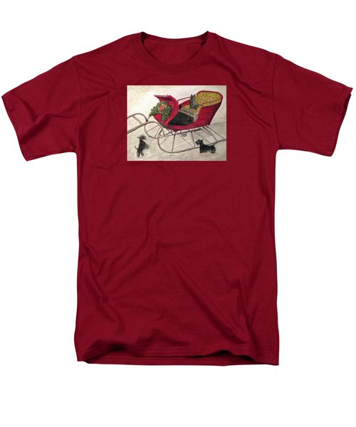 Hoping For A Sleigh Ride Men's T-Shirt  (Regular Fit) by Angela Davies