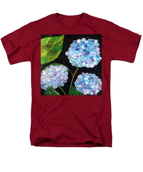 Men's T-Shirt  (Regular Fit) featuring the painting Hydrangeas  by Reina Resto