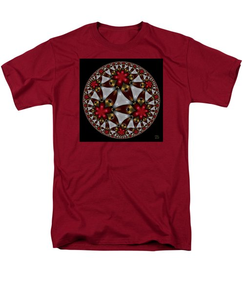 Men's T-Shirt  (Regular Fit) featuring the digital art Hyper Jewel I - Hyperbolic Disk by Manny Lorenzo