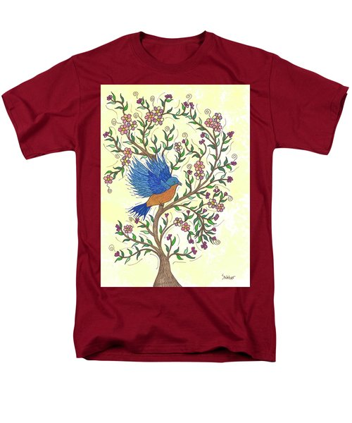 In The Garden - Bluebird Men's T-Shirt  (Regular Fit) by Susie WEBER