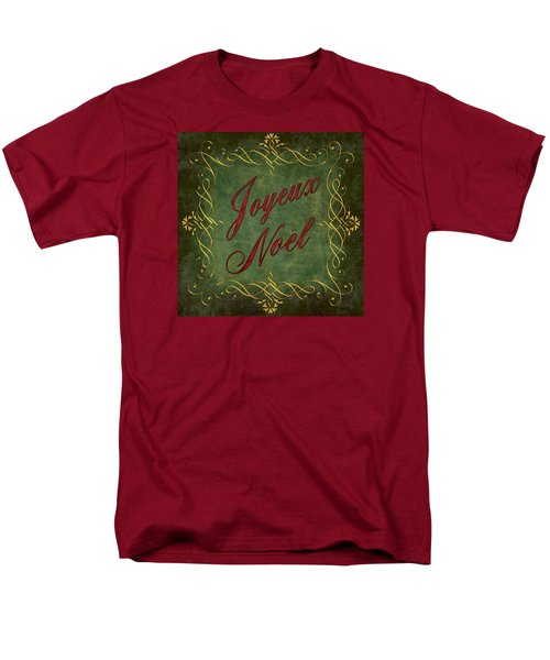 Joyeux Noel In Green And Red Men's T-Shirt  (Regular Fit) by Caitlyn  Grasso