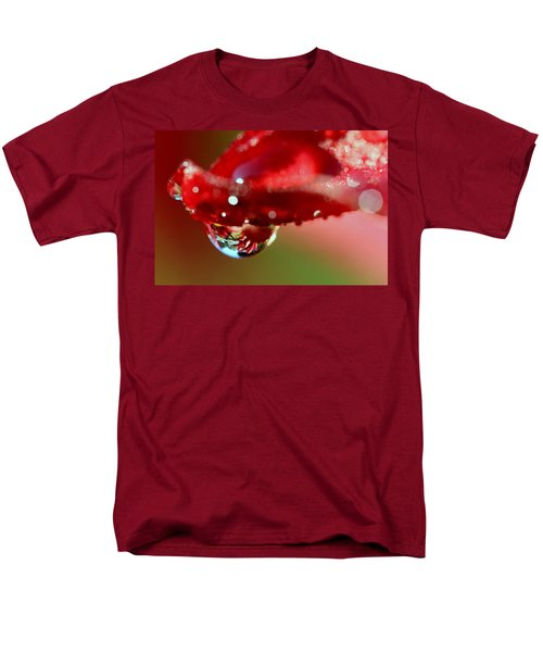 Men's T-Shirt  (Regular Fit) featuring the photograph Lily Droplets by Suzanne Stout