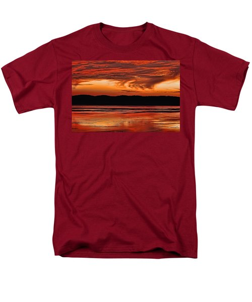 Men's T-Shirt  (Regular Fit) featuring the photograph Mississippi River Sunset by Don Schwartz