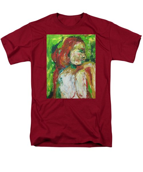 Men's T-Shirt  (Regular Fit) featuring the painting Thinking Of You by Esther Newman-Cohen
