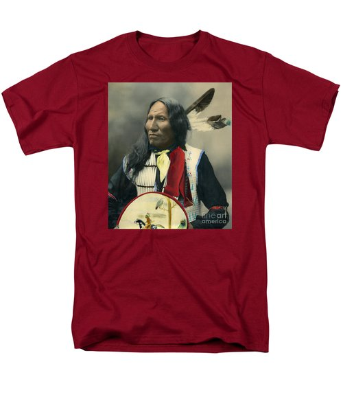 Men's T-Shirt  (Regular Fit) featuring the photograph Oglala Chief Strikes With Nose 1899 by Heyn Photo