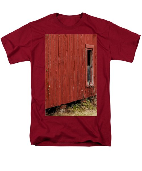 Men's T-Shirt  (Regular Fit) featuring the photograph Old Barn Window by Debbie Karnes