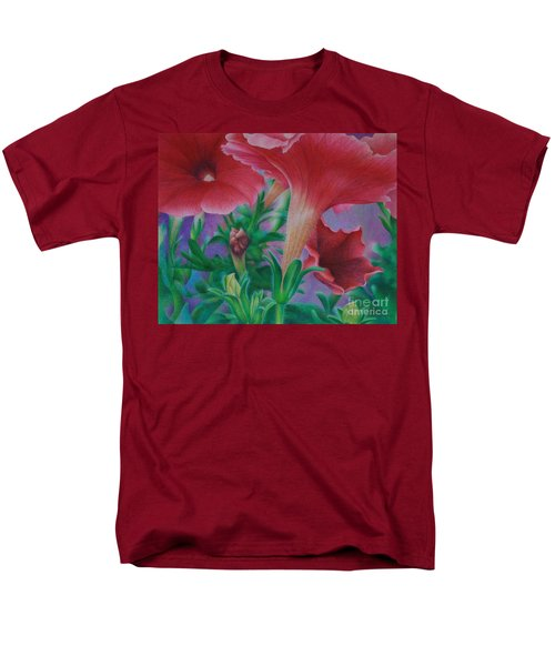 Men's T-Shirt  (Regular Fit) featuring the painting Petunia Skies by Pamela Clements