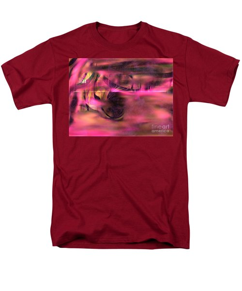 Pink Abstract Nature Men's T-Shirt  (Regular Fit) by Yul Olaivar