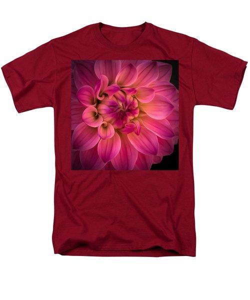 Pink Dahlia Men's T-Shirt  (Regular Fit) by Linda Villers