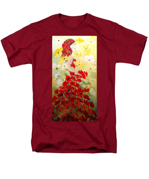 Poppies Lady Men's T-Shirt  (Regular Fit) by Dorothy Maier