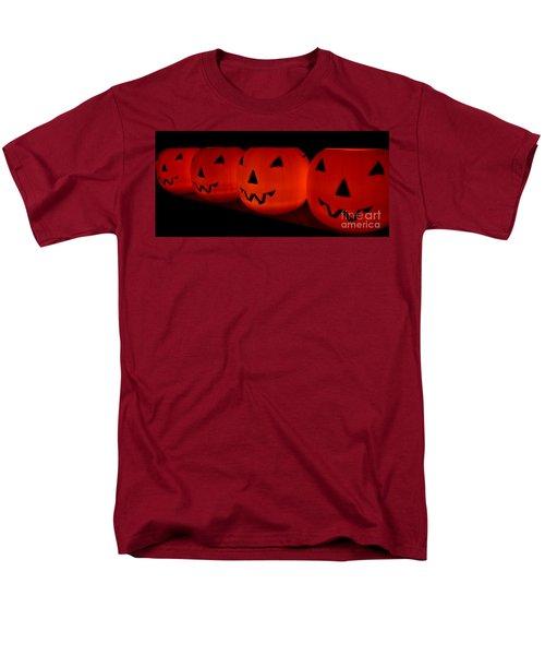 Pumpkins Lined Up Men's T-Shirt  (Regular Fit) by Kerri Mortenson