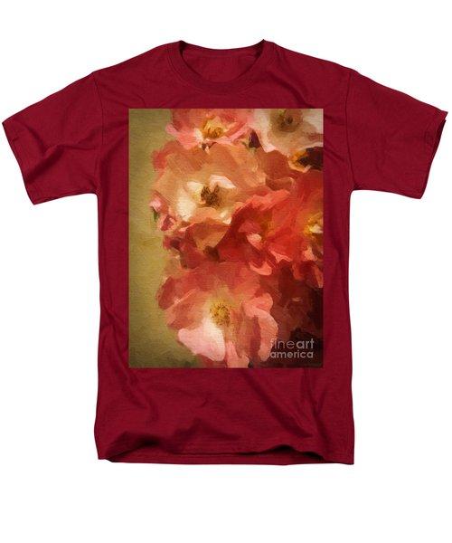 Men's T-Shirt  (Regular Fit) featuring the digital art Ramblin Rose Memories by Lianne Schneider