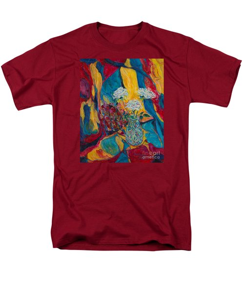 Red Blue Yellow Men's T-Shirt  (Regular Fit) by Anna Yurasovsky