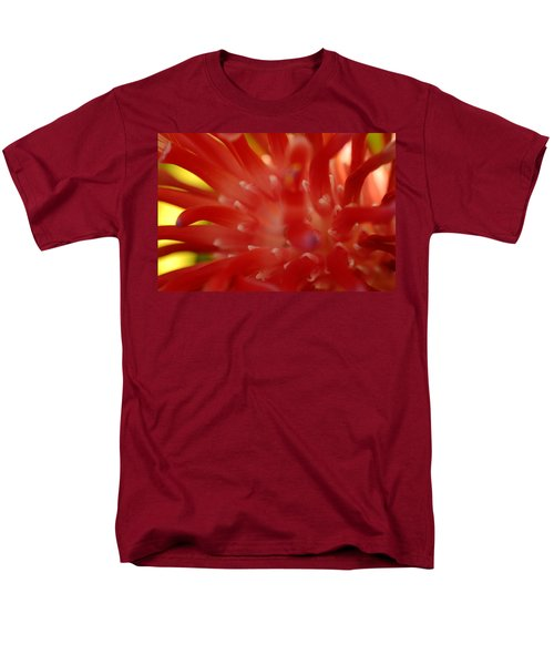 Men's T-Shirt  (Regular Fit) featuring the photograph Red Bromeliad by Greg Allore