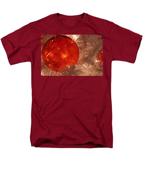 Red Christmas Ornament Men's T-Shirt  (Regular Fit) by Lynn Sprowl