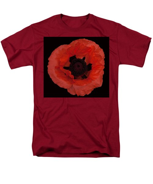 Red Poppy Men's T-Shirt  (Regular Fit) by Susan Rovira