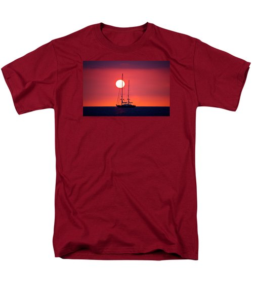 Sailboat Sunset Men's T-Shirt  (Regular Fit) by Venetia Featherstone-Witty