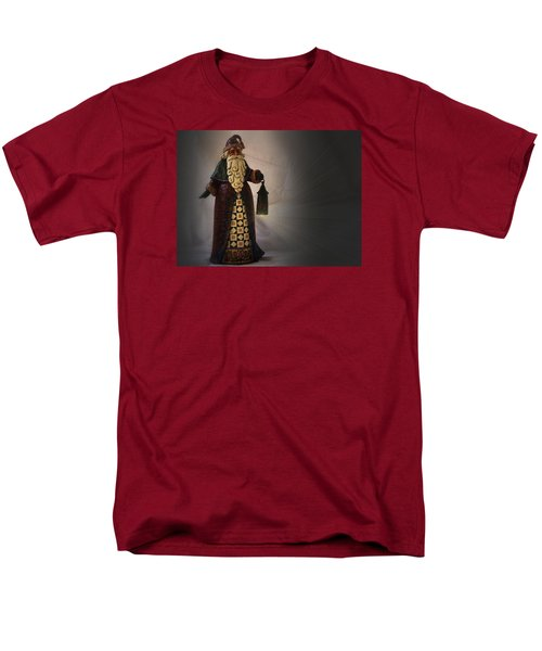 Men's T-Shirt  (Regular Fit) featuring the photograph Santa With A Lantern by Nadalyn Larsen