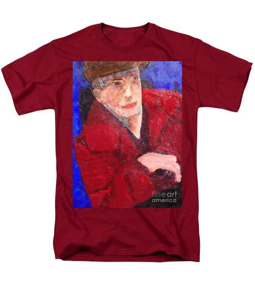 Men's T-Shirt  (Regular Fit) featuring the painting Self-portrait by Donald J Ryker III