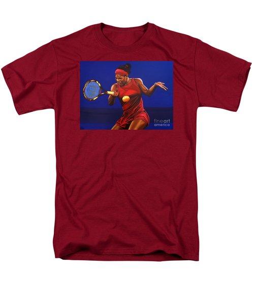 Serena Williams Painting Men's T-Shirt  (Regular Fit) by Paul Meijering