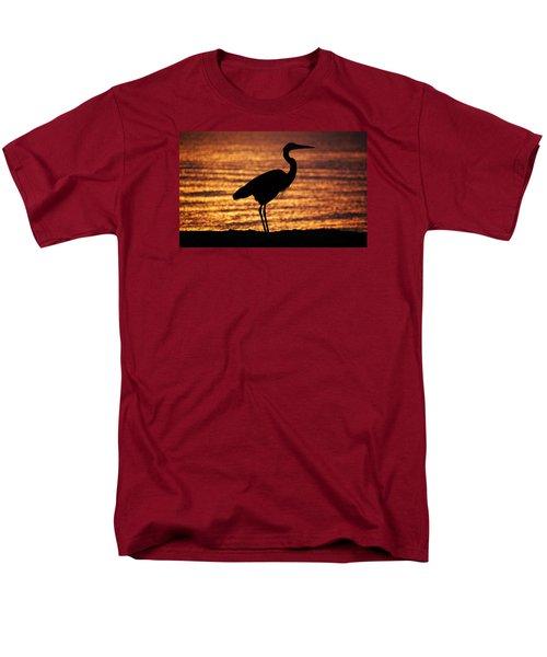 Men's T-Shirt  (Regular Fit) featuring the photograph Sunrise Heron by Leticia Latocki