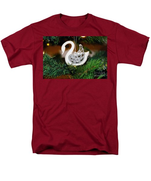 Men's T-Shirt  (Regular Fit) featuring the photograph Swans A Swimming by Cassandra Buckley