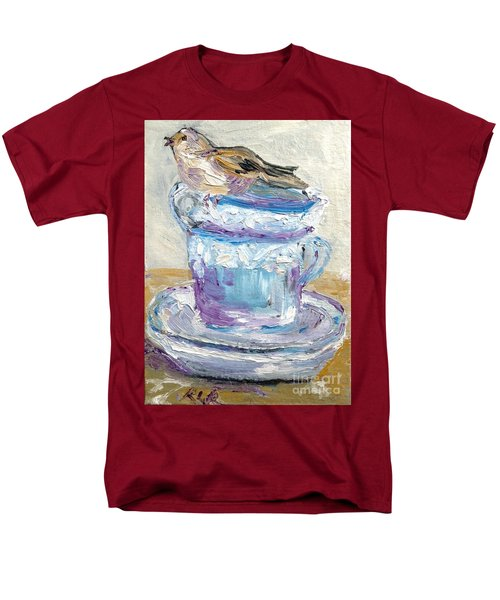 Men's T-Shirt  (Regular Fit) featuring the painting Tea Time  by Reina Resto