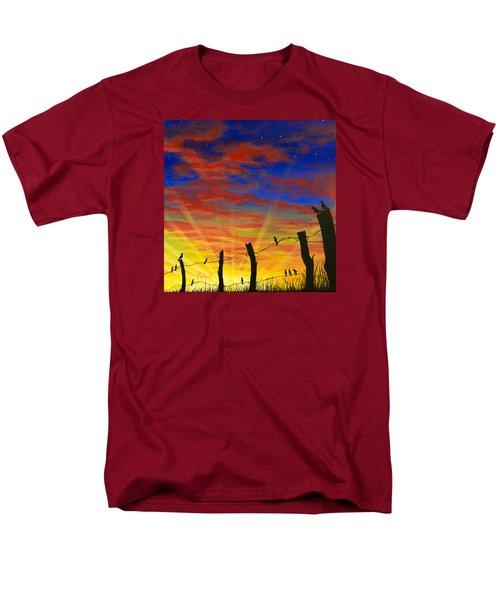 The Birds - Red Sky At Night Men's T-Shirt  (Regular Fit) by Jack Malloch