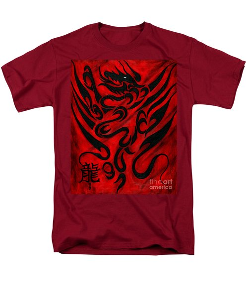 Men's T-Shirt  (Regular Fit) featuring the painting The Dragon by Roz Abellera Art