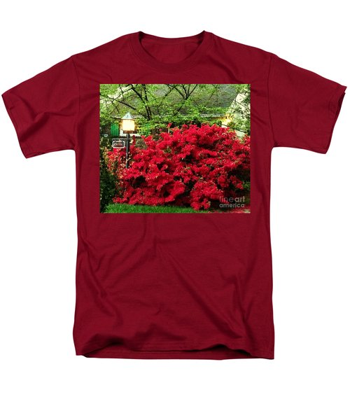 Men's T-Shirt  (Regular Fit) featuring the photograph The Light Red Bush Bella by Becky Lupe